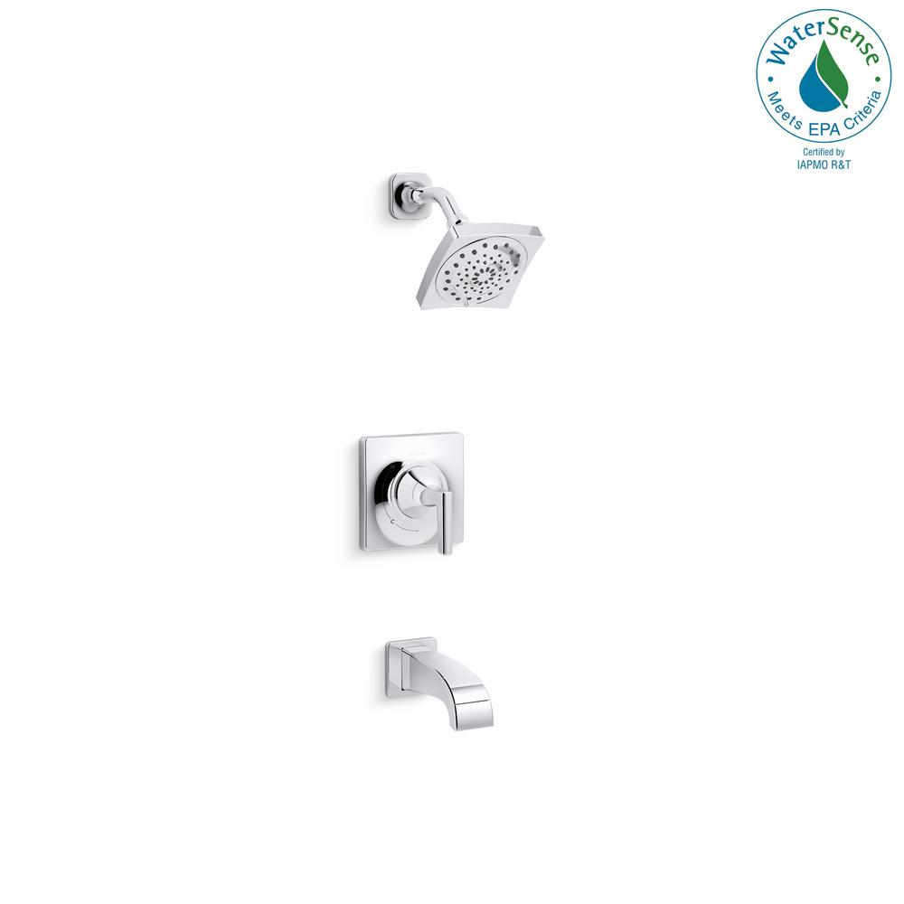 KOHLER Katun 1 Handle 3 Spray Tub And Shower Faucet In Polished Chrome (