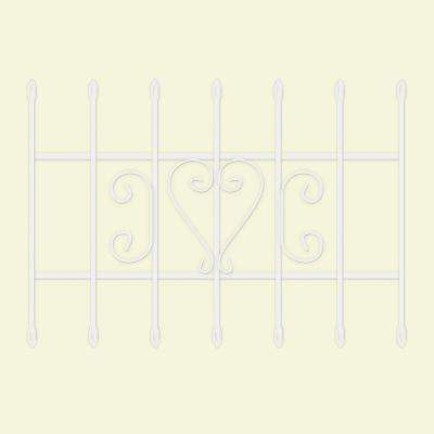 36 in. x 24 in. Su Casa White 7-Bar Window Guard