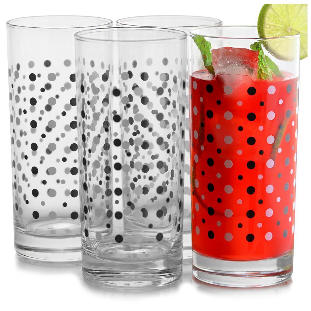 Tuxedo 16.25 oz. Cooler Glass (4-Piece)