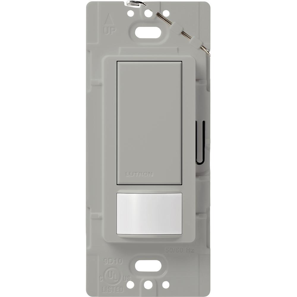 Maestro Vacancy Sensor switch, 2-Amp, Single-Pole, Gray