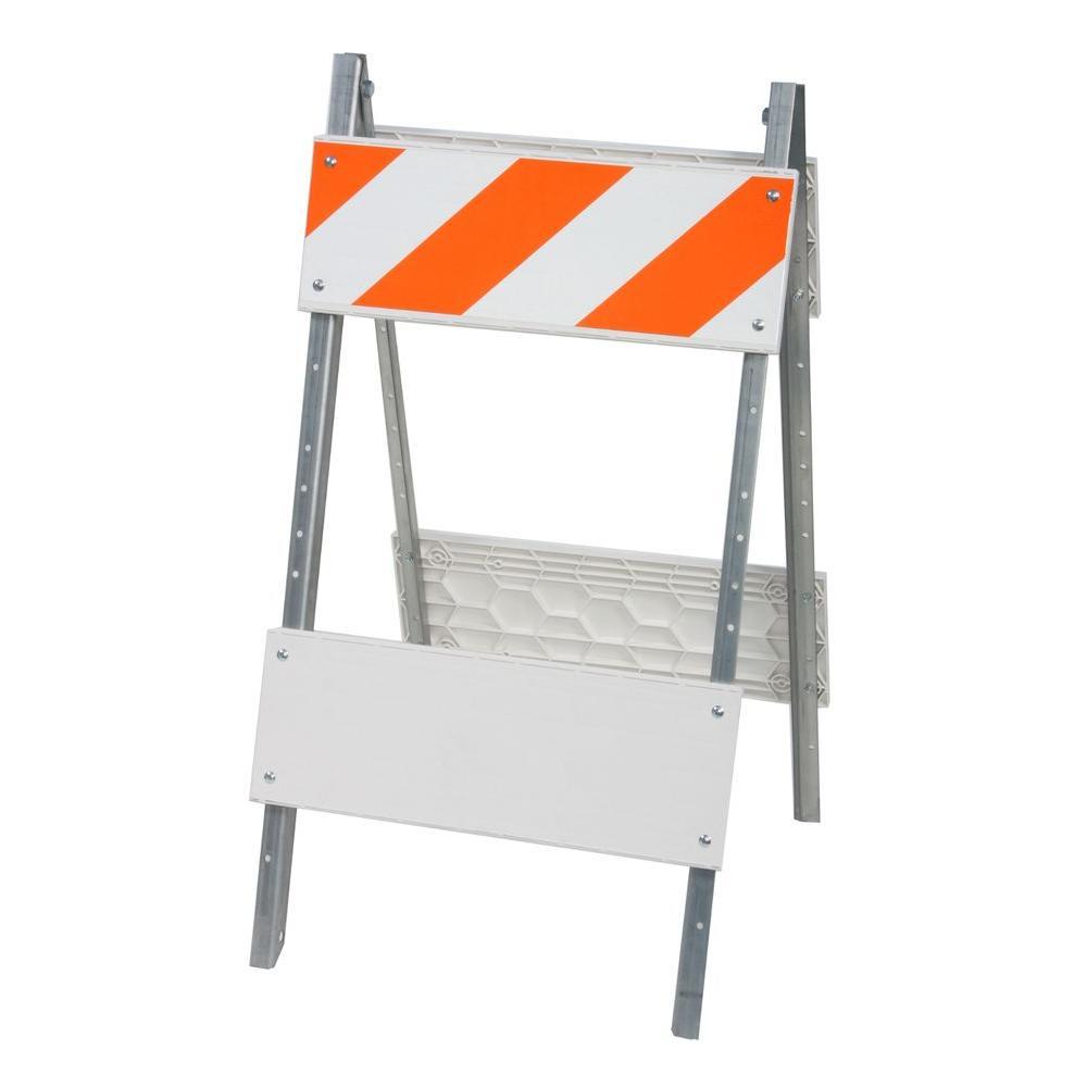 8 in. Type I Plastic/Galvanized Sheet Folding Barricade