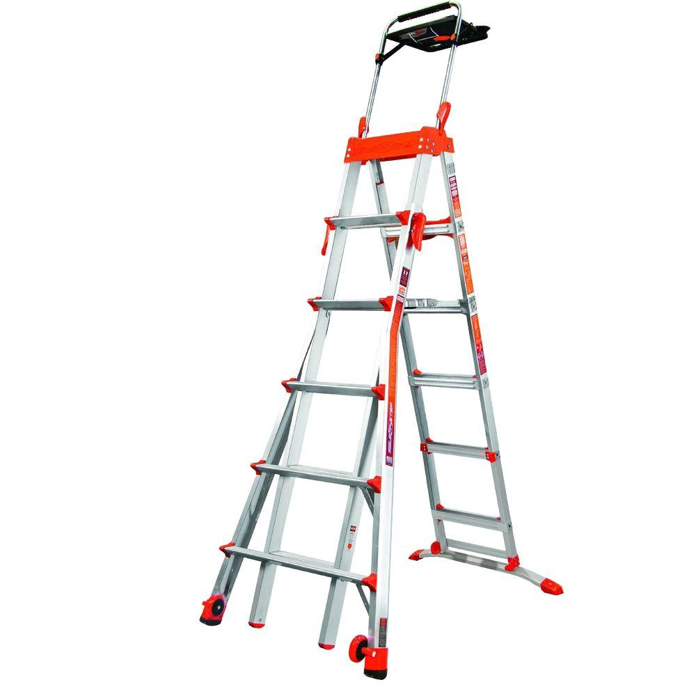 Werner 26 ft. Reach Aluminum Telescoping Multi-Position Ladder with ...