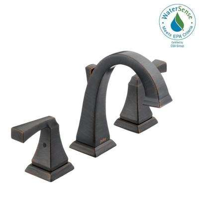 Dryden 8 in. Widespread 2-Handle Bathroom Faucet with Metal Drain Assembly in Venetian Bronze