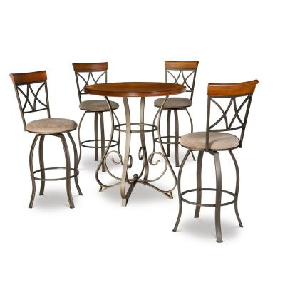 Masson 5-Piece Cherry/Pewter/Bronze Pub Set