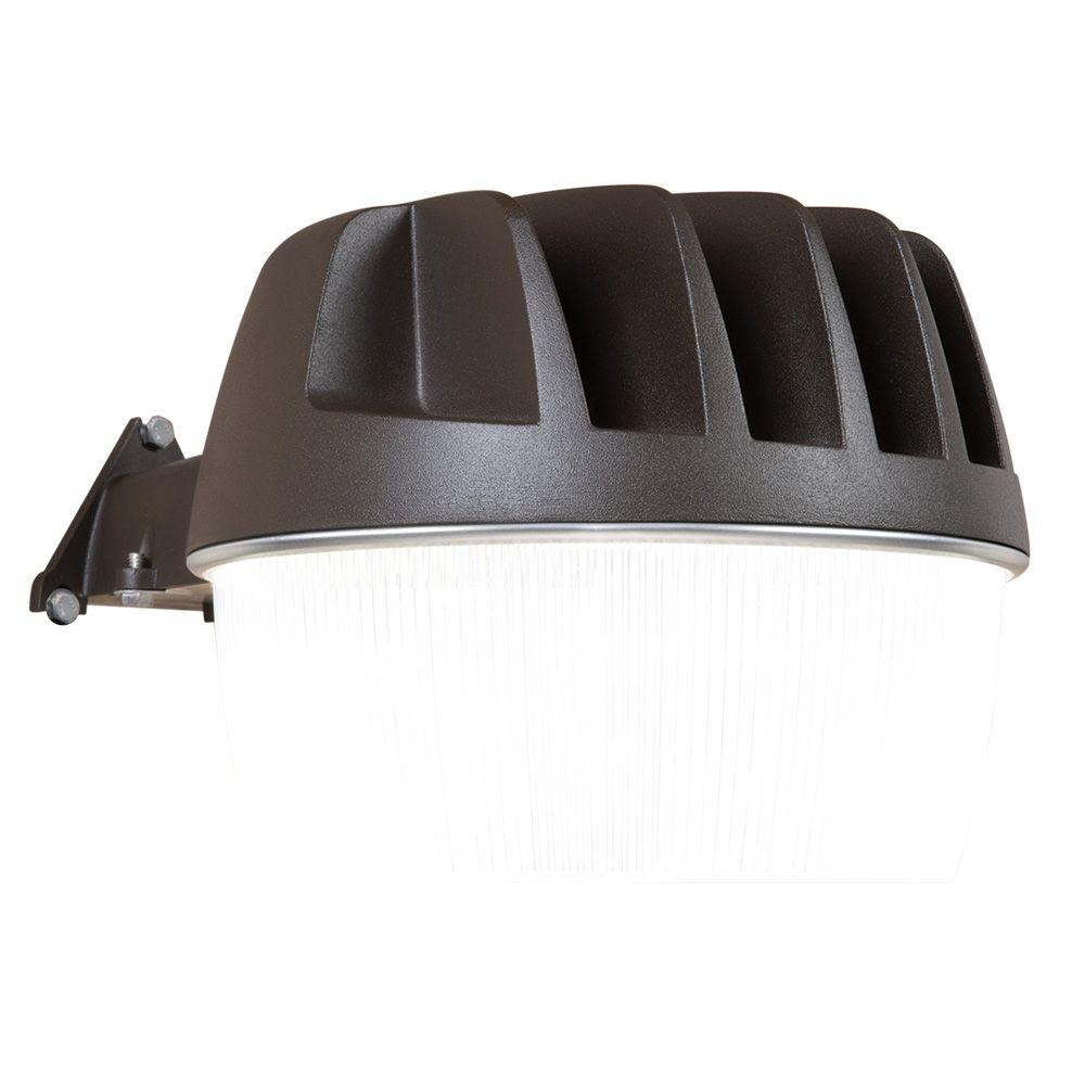 Gray Outdoor Integrated LED Security Area Light with Built-in Dusk to