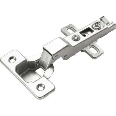 Bright Nickel 105 Degree Opening Euro Full Overlay Hinge
