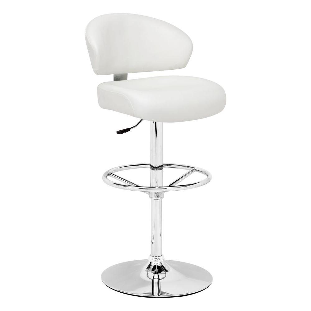 ZUO Tarragon White Barstool-DISCONTINUED