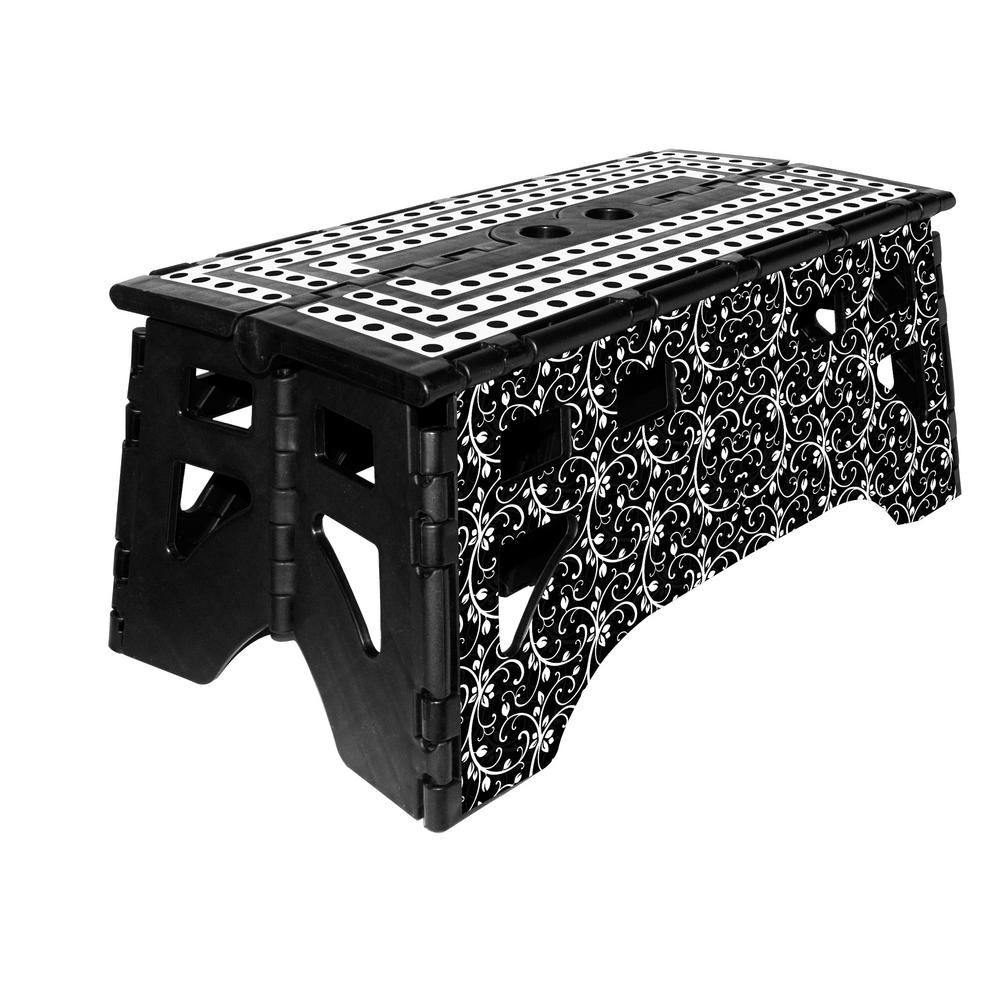 Expace 20 In Plastic Folding Step Stool With 500 Lbs