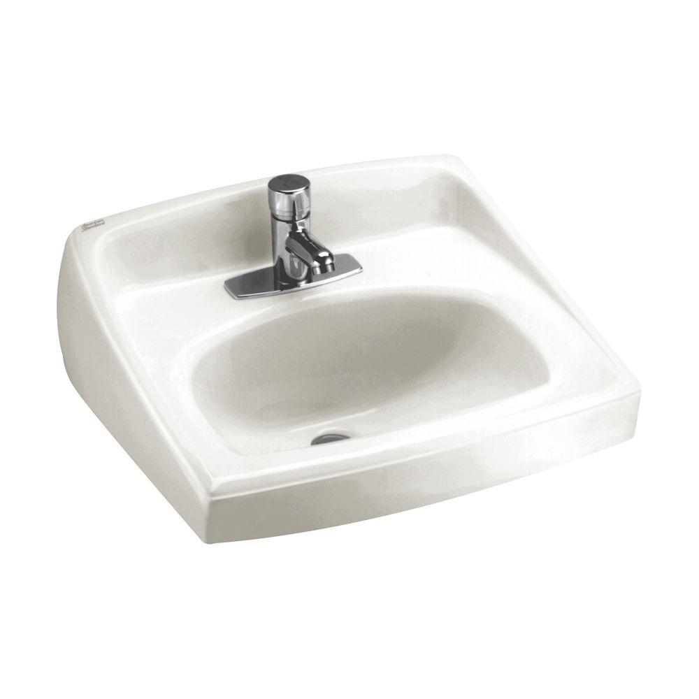 American Standard Lucerne Wall Mount Bathroom Sink In White