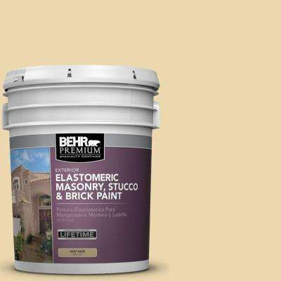 5 gal. #MS-35 Woodland Cream Elastomeric Masonry, Stucco and Brick Exterior Paint