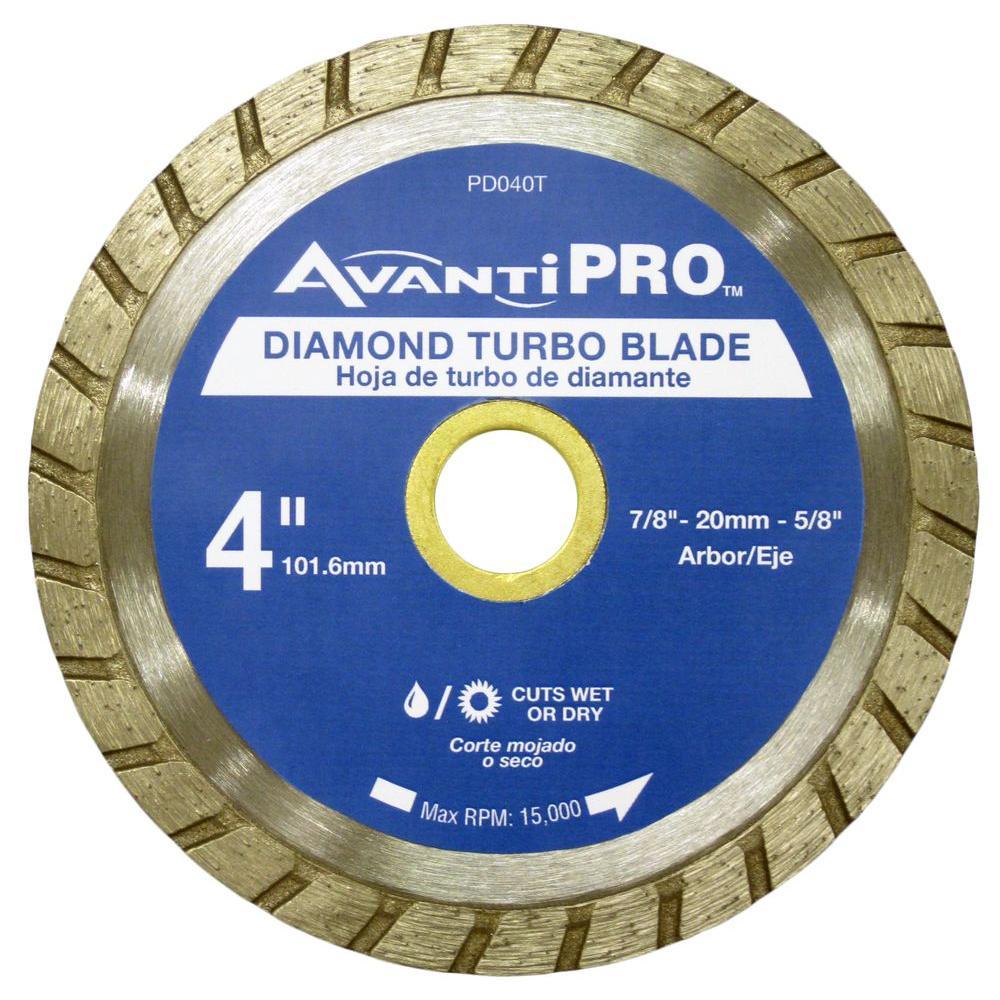 Avanti Pro 4 in. Turbo Diamond Blade