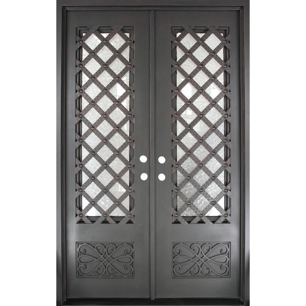 Iron Doors Unlimited 62 In X 975 In Luce Lattice Classic 34 Lite
