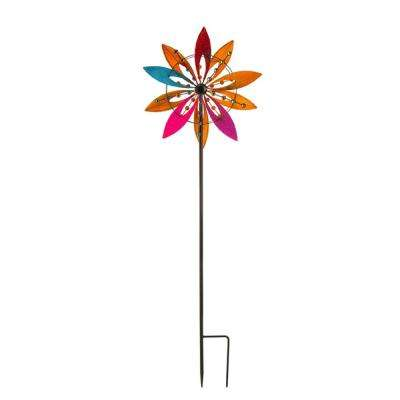 Colorful Reflections 72 in. Kinetic Wind Spinner