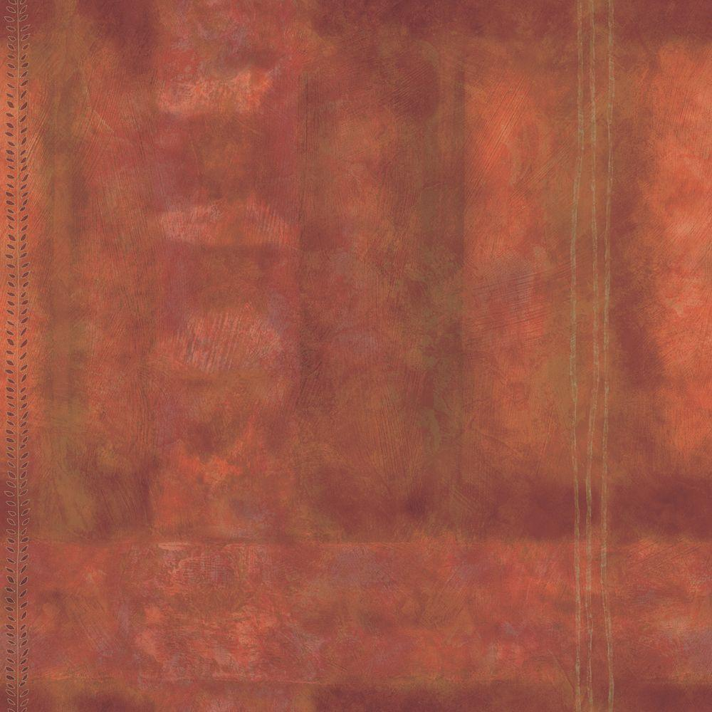 The Wallpaper Company 56 sq. ft. Orange Large Abstract Plaid Wallpaper
