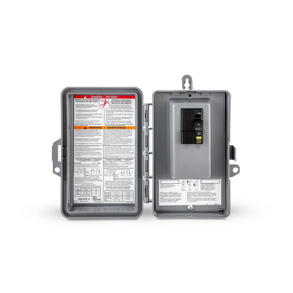 QO 60 Amp 2-Space 4-Circuit Spa Panel Main Lug Load Center