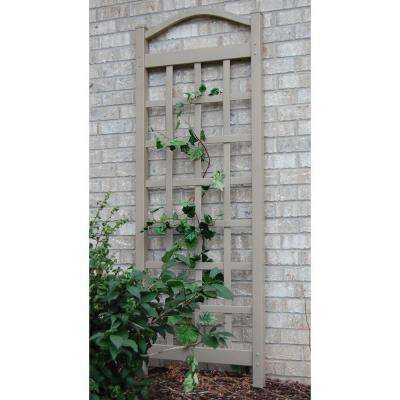 76 in. x 28 in. Mocha Vinyl PVC Cambridge Trellis