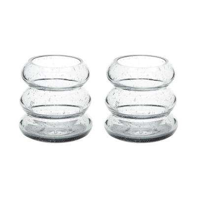 Smoke Ring 4 in. Glass Votive Candle Holders (Set of 2)