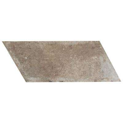 D'Anticatto Chevron Right Grigio 5-1/2 in. x 12-3/4 in. Porcelain Floor and Wall Tile (10.9 sq. ft. / case)