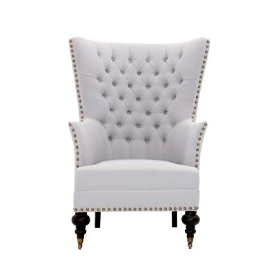 Remmy Light Grey Upholstered Arm Chair