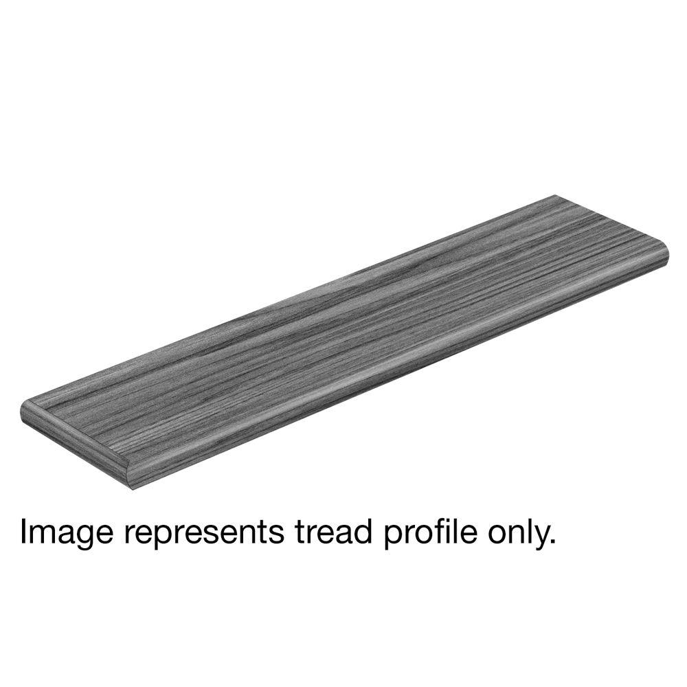 Siena Oak 47 in. Length x 12-1/8 in. Deep x 1-11/16 in. Height Vinyl Overlay Left Return to Cover Stairs 1 in. Thick