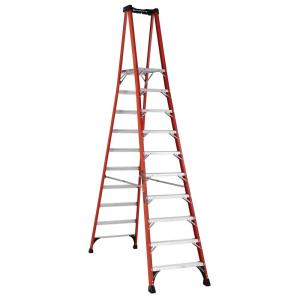 Louisville Ladder 10 ft. Fiberglass Pinnacle PRO Platform Ladder with 375 lbs.... by Louisville Ladder