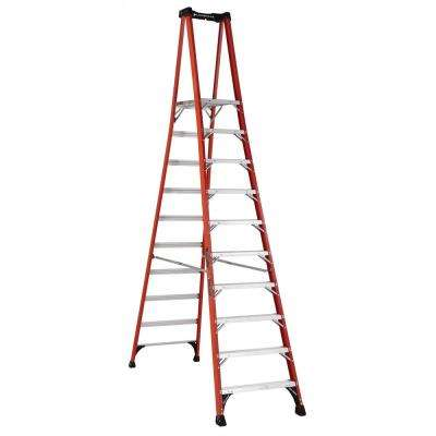10 ft. Fiberglass Pinnacle PRO Platform Ladder with 375 lbs. Load Capacity Type IAA Duty Rating