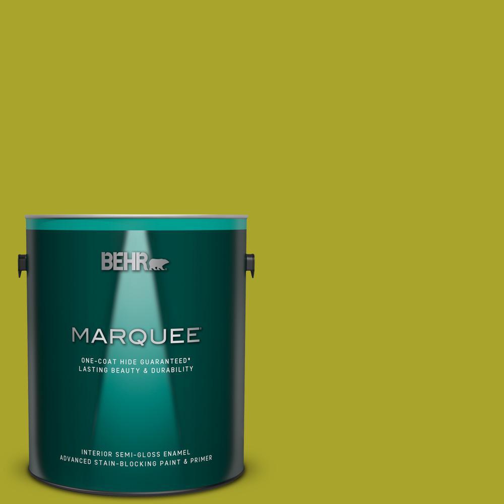 7c7cc048 BEHR MARQUEE 1 gal. #P340-7 Venom Semi-Gloss Enamel Interior Paint ...
