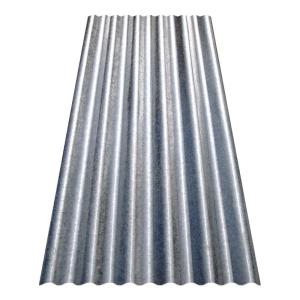 Gibraltar Building Products 8 Ft Corrugated Galvanized