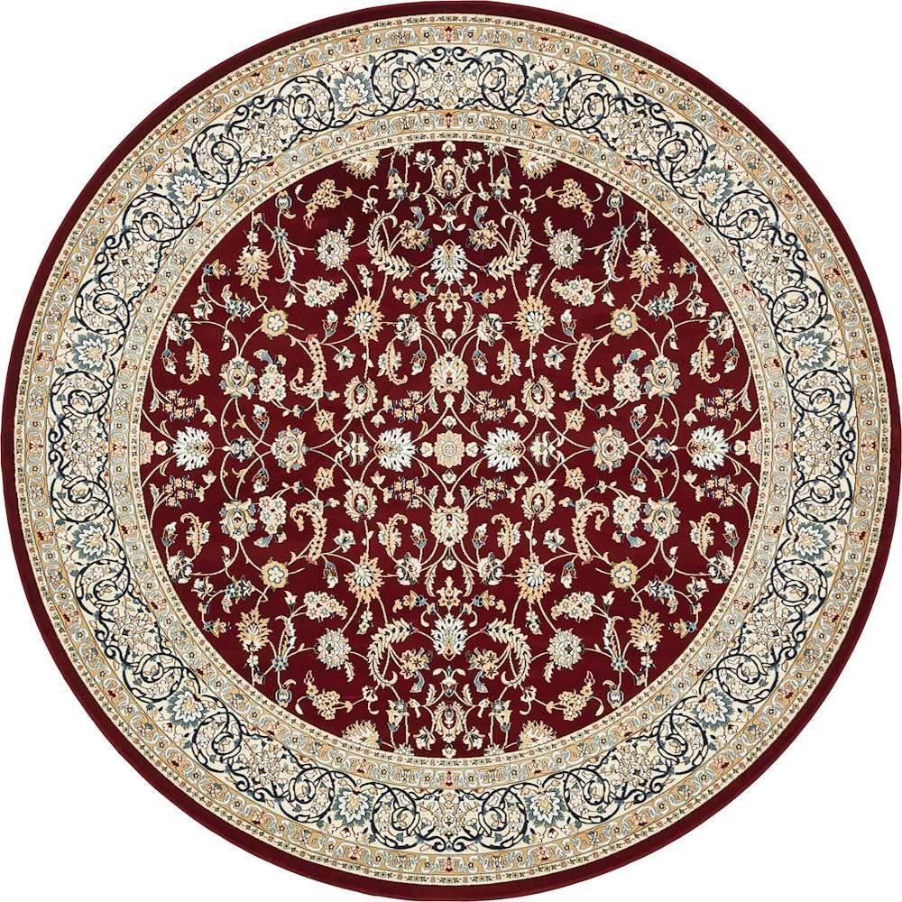 unique loom nain design burgundy 10 ft x 10 ft round area rug 3135791 the home depot. Black Bedroom Furniture Sets. Home Design Ideas