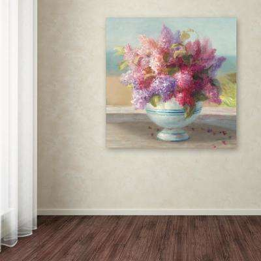 "18 in. x 18 in. ""Seaside Spring Crop II"" by Danhui Nai Printed Canvas Wall Art"