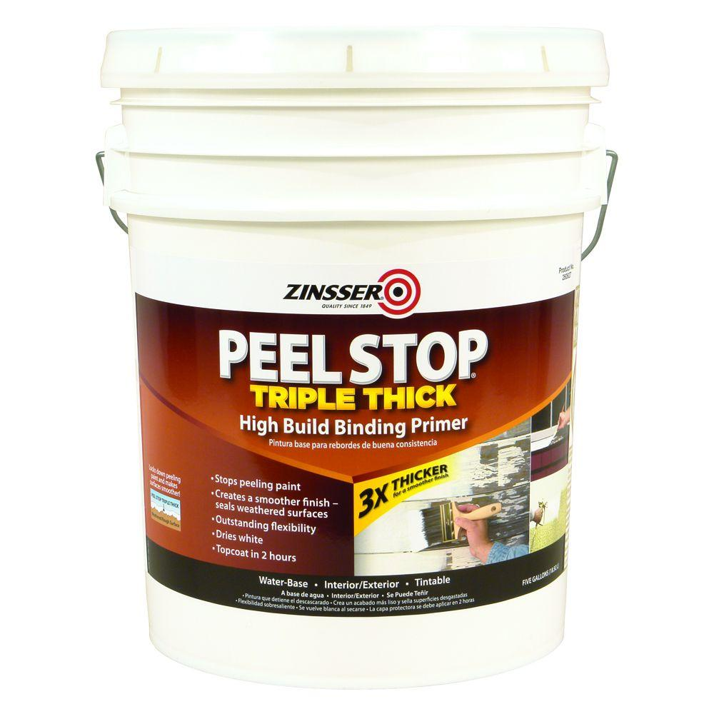 Zinsser Peel Stop 5 Gal White Triple Thick Interior Exterior High