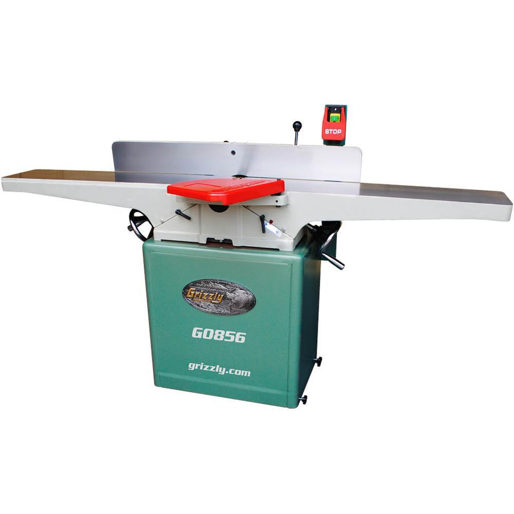 Grizzly Industrial 12 Amp 8 inch Corded Jointer w/ Helical Cutterhead and Mobile Base