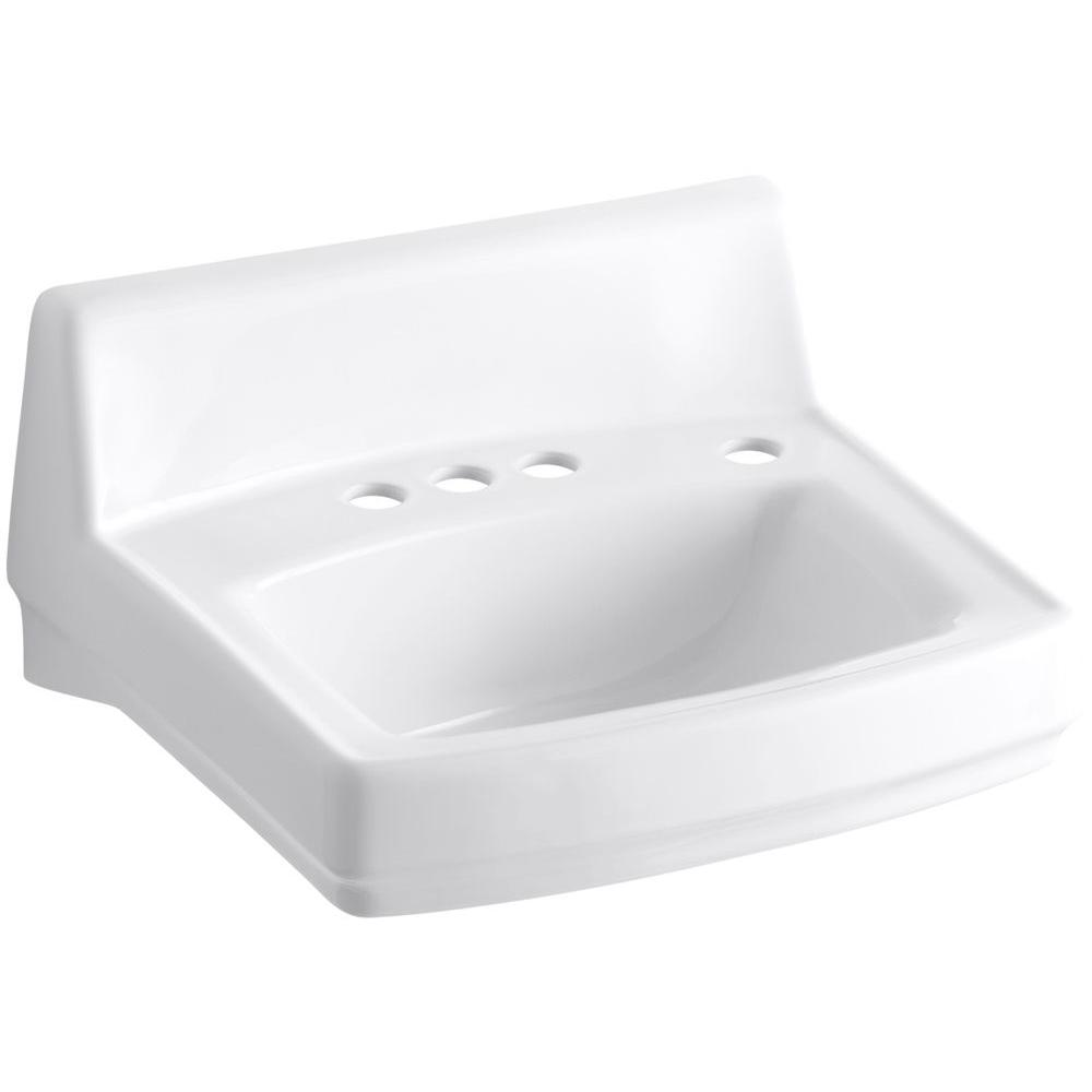 Greenwich Wall-Mount Bathroom Sink in White