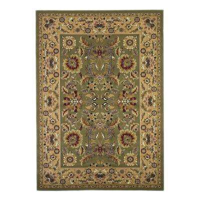 Classic Kashan Green/Taupe 7 ft. 7 in. x 10 ft. 10 in. Area Rug