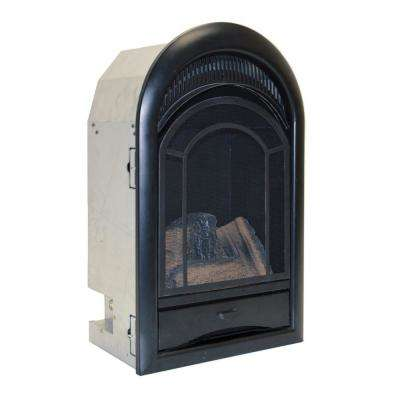 Ventless Fireplace Insert Thermostat Control Arched Door -15,000 BTU