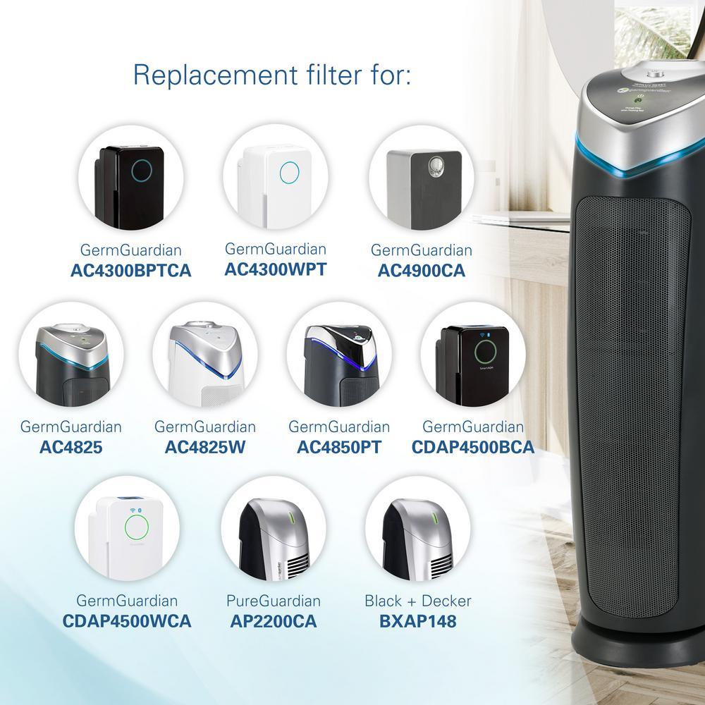 HEPA Filter B for GermGuardian FLT4825 AC4300 FLT4800 4900 Air Purifier Parts