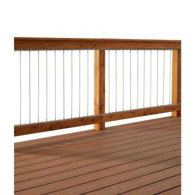42 in. H x 72 in. W Insta Tube Vertical Stainless Steel Tube In-Fill Kit for Deck Railings