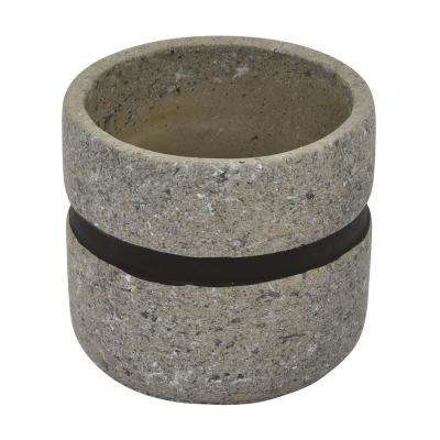 4.25 in. Gray and Black - Gray Flower Pot
