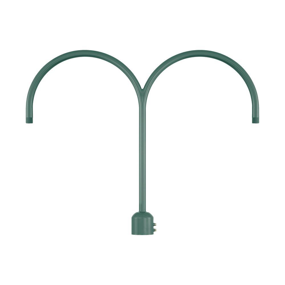26 in. 2-Light Satin Green Post Adapter