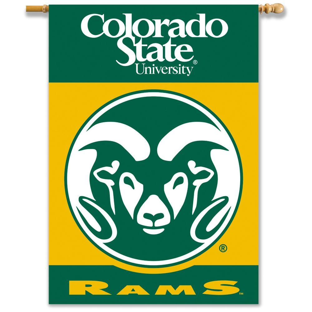 BSI Products NCAA 28 in. x 40 in. Colorado State 2-Sided Banner with Pole Sleeve-DISCONTINUED