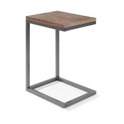 Barnside Metro Driftwood Gray Pull-Up End Table