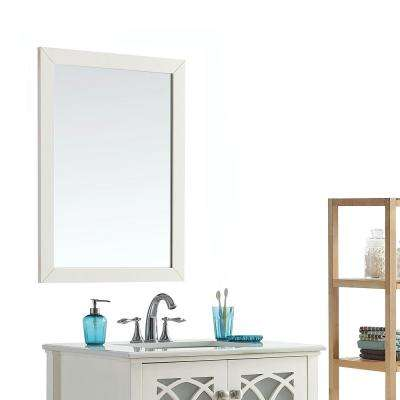Paige 24 in. x 34 in. Bath Vanity Mirror in Soft White