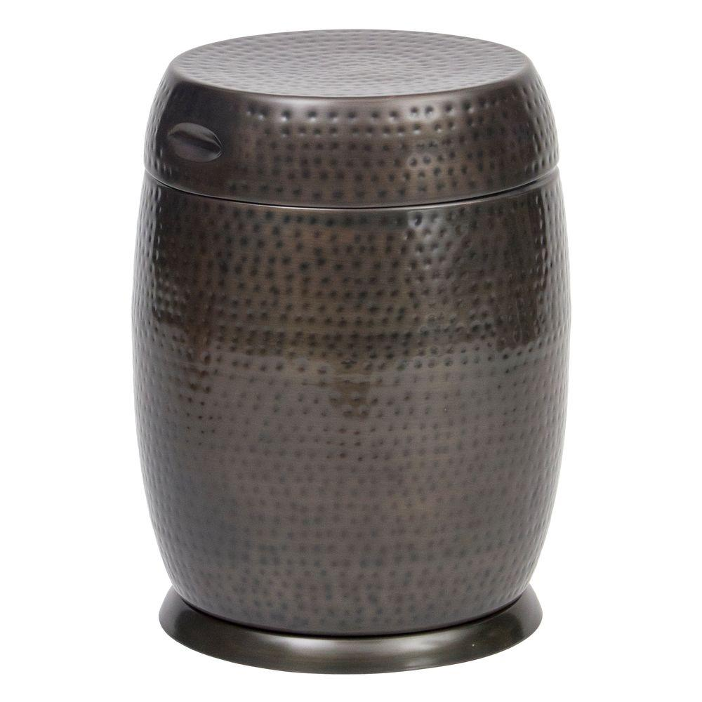 Bombay Outdoors Bronze Madras Drum Patio Side Table