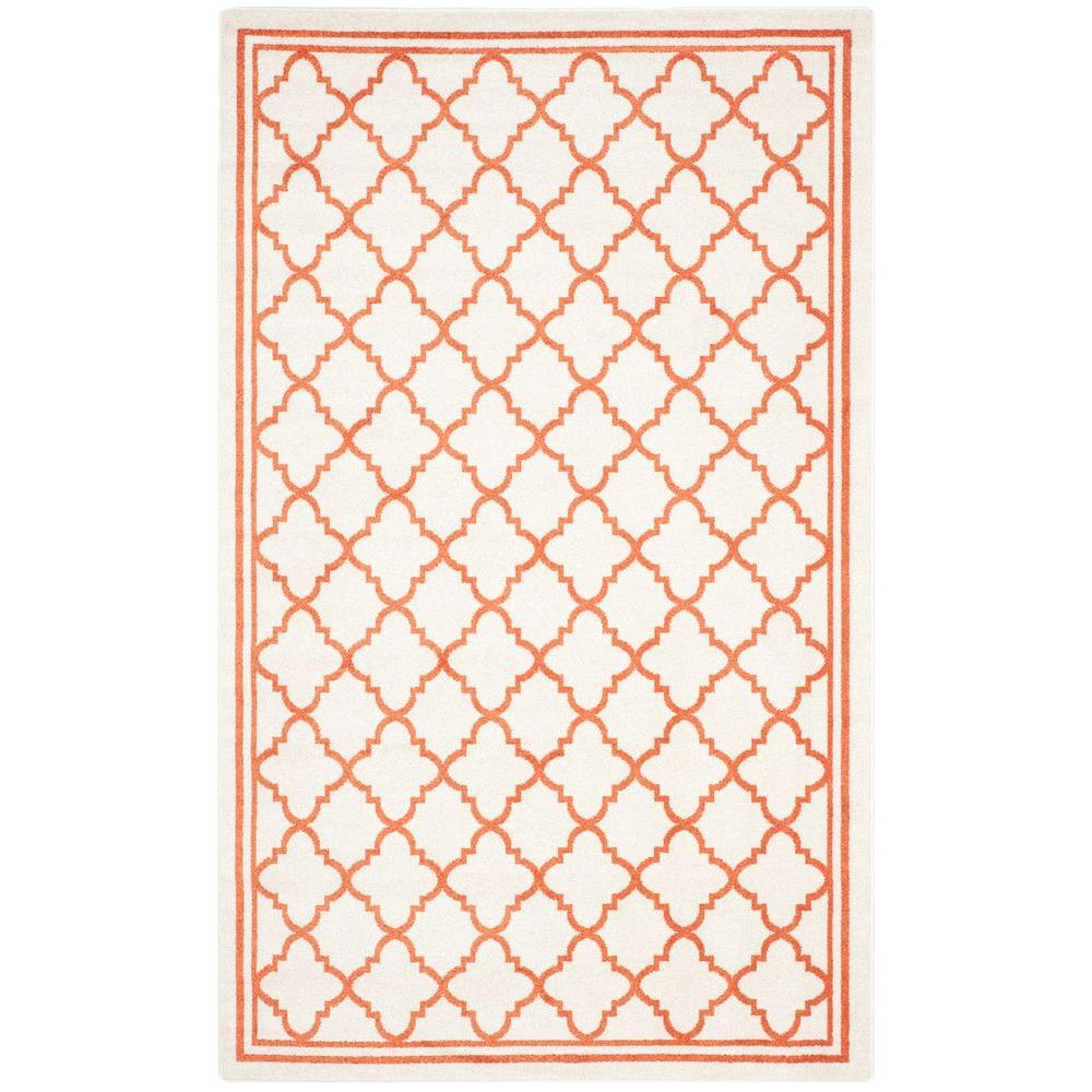 Amherst Beige/Orange 4 ft. x 6 ft. Indoor/Outdoor Area Rug