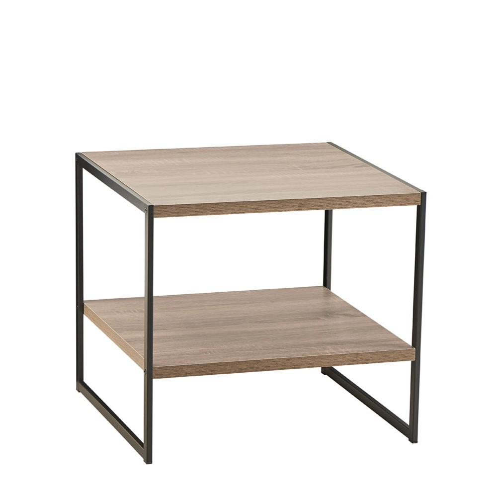 ClosetMaid ClosetMaid Mixed Material Storage Furniture 18.9 in W x 18.8 in. D Gray End Table with Decorative Shelf
