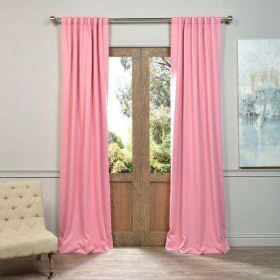 Semi-Opaque Precious Pink Blackout Curtain - 50 in. W x 120 in. L (Panel)