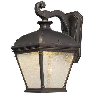 Lauriston Manor 1-Light Oil-Rubbed Bronze Outdoor Wall Mount Lantern