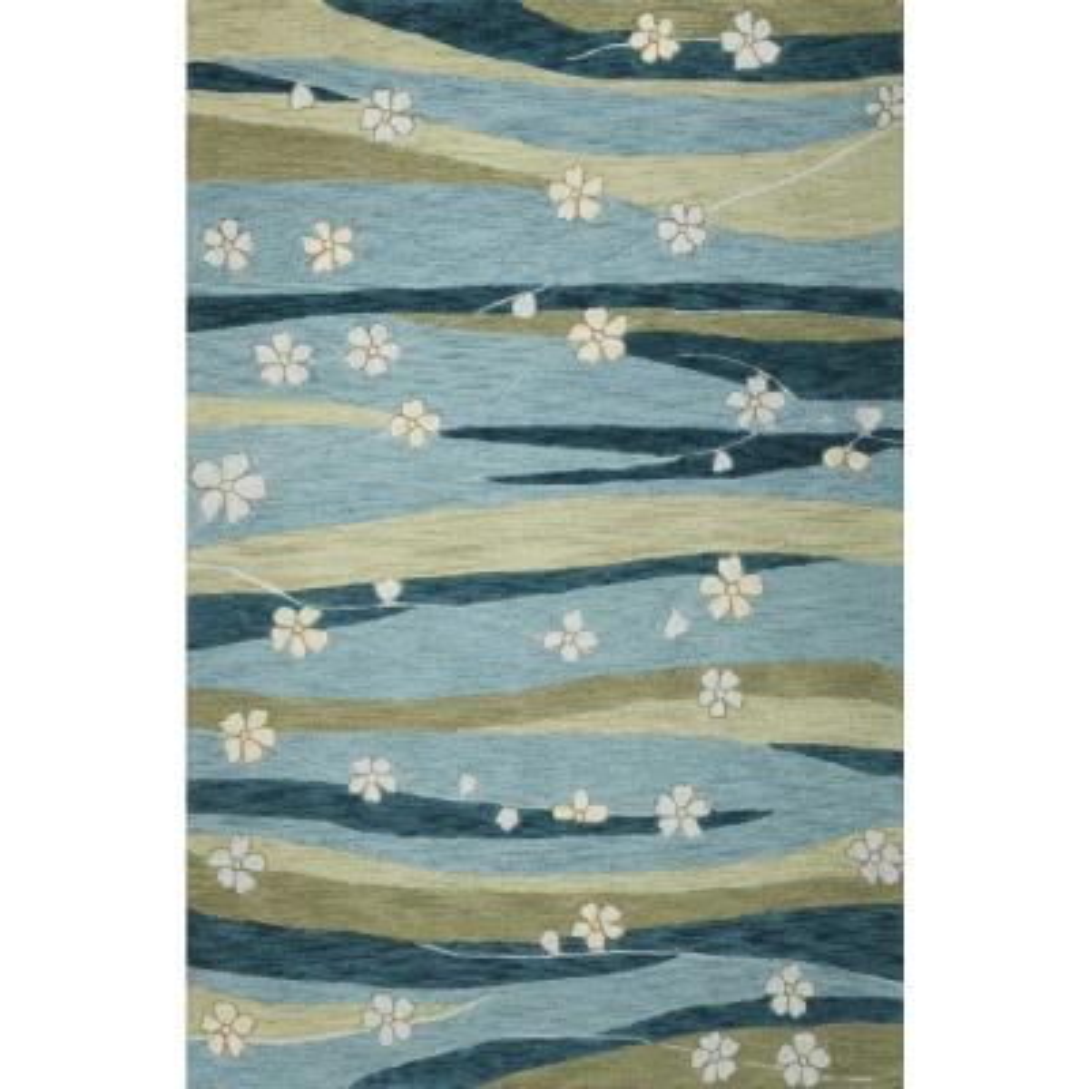 Bernadette Blue 3 ft. x 5 ft. Abstract Indoor Area Rug