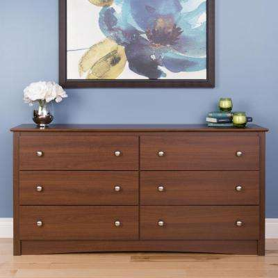 Sonoma 6-Drawer Warm Cherry Dresser