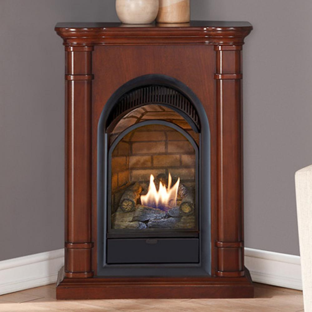 Duluth Forge 28 In Ventless Dual Fuel Fireplace With Mantel In